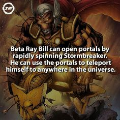 Beta Ray Bill Comic Book Characters, Marvel Characters, Comic Character, Comic Books Art, Marvel Comic Universe, Comics Universe, Marvel Vs, Marvel Facts, Marvel Memes