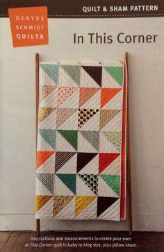 In This Corner Quilt & Sham Pattern