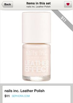 nails inc. Leather Polish ($11)