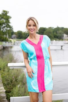 pink and blue summer style