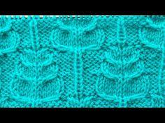 Узоры спицами - Дубовые листья - YouTube