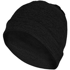 MERIWOOL Unisex Merino Wool Cuff Beanie Hat  Black * You can get more details by clicking on the image.Note:It is affiliate link to Amazon.