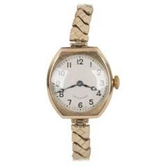 CRUSADER Vintage 1930s Gold 375 English LADIES WRIST WATCH