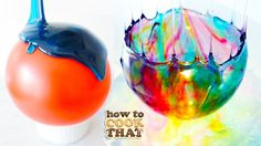 Here's a cool idea! I love things like this, a do-it-yourself candy bowl made with simple syrup, food coloring and a balloon. What? This is a really fun project you can do to impress your friends if you're going to host a party, or it might be a fun activity to do with your children or grandchildren. Press play to learn how to make this beautiful, yet delicate piece of decor.