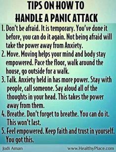 Importante: tips para solventar ataques de pánico