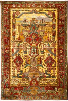 "Armenian carpet ""Մայր Հայաստան"" (Mayr Hayastan, meaning Mother Armenia) is dated to the early century, No. 2358 from the Ministry of Culture of the Republic of Armenia. Persian Carpet, Persian Rug, Iranian Rugs, Iranian Art, Rustic Rugs, Carpet Colors, Grey Rugs, Rugs On Carpet, Rugs"