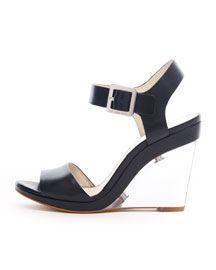 SHOES - SALE - Michael Kors Lana clear wedge sandals  $117