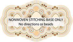 "Brownstone nonwoven stitching base by Ann Benson 2.5x4.4 """