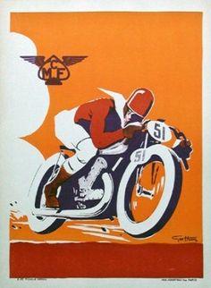 Vintage Motorcycle Poster