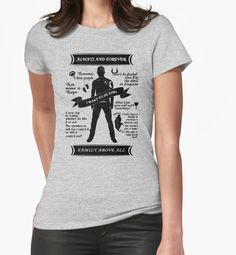 https://www.redbubble.com/people/ksuann/works/21072629-klaus-mikaelson-quote-tee?p=t-shirt&style=womens&body_color=heather_grey&print_location=front in Large