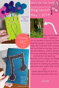 Blog Launch May 1st! A few projects coming May 1-8!