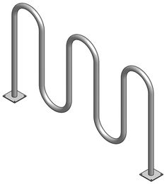 Wave Bike Rack: The graceful yet simple style of Wave Bike Racks will enhance any park setting. The combination of sturdy design and low price make this bike rack an unbeatable choice. - Iowa Prison Industries