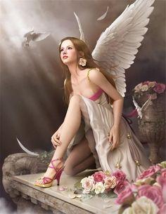 ange-fleurs-oiseaux-rose-river