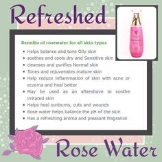 It's Tips & Techniques Tuesday! Meet Rose Water. There is not much Rose Water does not do. A little goes along way. A staple for every house. www.LovelyLasheswithLissy.com