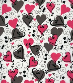 Holiday Inspirations Fabric-Looped Hearts  Can be gotten while in stock