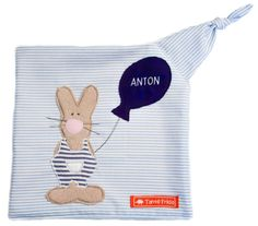 Schmusetücher - Schnuffeltuch Hase Anton - Tante Frida - ein Designerstück von Tante-Frida-Shop bei DaWanda