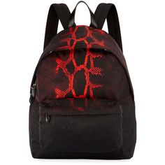 Givenchy Snake-Print Nylon Backpack (17.879.075 IDR) ❤ liked on Polyvore 99e9cd728ed7a