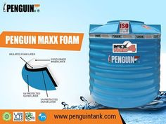 Penguin MAXX4 Foam Tank is the best Insulated Foam Tank available in its category. The extra heavy weight tank with Maximum Insulation gives you fresh and cold water around the year. #PenguinTank #FoamTank