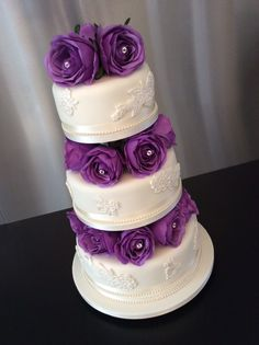 Image result for lilac wedding cakes