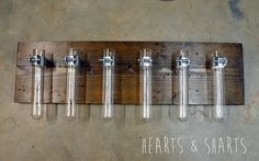 Hanging Test Tube Wall Planter | http://heartsandsharts.com/hanging-test-tube-wall-planter/