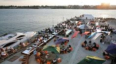 [beach club] Have a drink after a long walk from the opera, or just take the ferry.