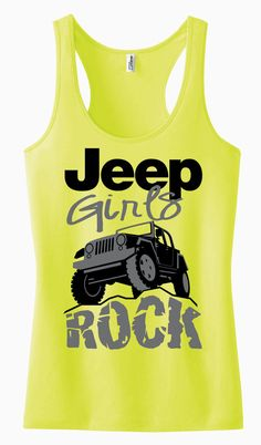 Jeep Girls Rock Racerback Tank Top by AdSpecial on Etsy
