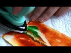 Enkaustika maľovanie č.9 - listy - YouTube