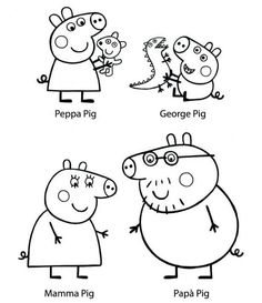 peppa pig Printable Peppa Pig Coloring Pages. Have a Joy with Peppa Pig Coloring Pages. Do your children like to color pictures? If they do, the Peppa pig coloring pages can be the right cho Dora Coloring, Peppa Pig Coloring Pages, Kids Printable Coloring Pages, Family Coloring Pages, Cartoon Coloring Pages, Coloring Books, Papa Pig, Peppa Pig Shows, Peppa Pig Pictures