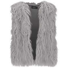 MINKPINK Women's Endless Shaggy Vest (765 NOK) ❤ liked on Polyvore featuring outerwear, vests, grey, sleeveless vest, grey vest, long sleeveless vest, vest waistcoat and minkpink