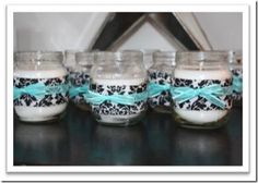 make candles from baby food jars