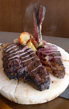 Fiorentina steak from Oca Grassa in Singapore. Reviews at www.straitstimes.com/singapore-restaurant-reviews-wong-ah-yoke Photo: Wong Ah Yoke/The Straits Times