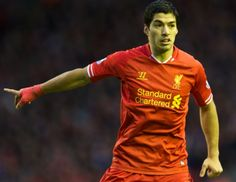 Luis Suarez in action