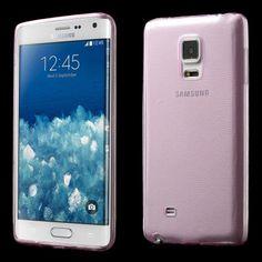 Funda Gel Samsung Galaxy Note Edge Invisible Rosa