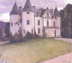 John William Waterhouse:A Scottish Baronial House  1907