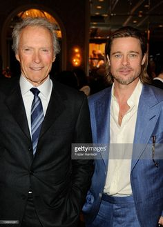 Brad Pitt   with Clint Eastwood