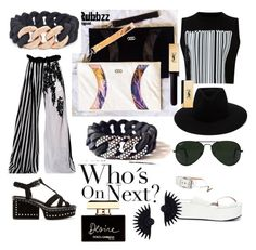 Black&White featuring The Rubbzz Original black band in black zirconia studded links and 24k Rose Gold beaded links.Clutches from black horse and white Appaloosa leather. by therubbzzoriginal on Polyvore featuring polyvore, fashion, style, Alexander Wang, Ann Demeulemeester, Marc Jacobs, Lulu Frost, rag & bone, Ray-Ban, Dolce&Gabbana and clothing