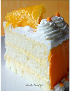 Mango Buttercream Cake