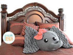 NEW PATTERN Josefina and Jeffery Elephant Pillow PDF Crochet Pattern with…