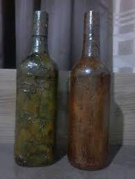 Resultado de imagem para garrafas decoradas com patchwork