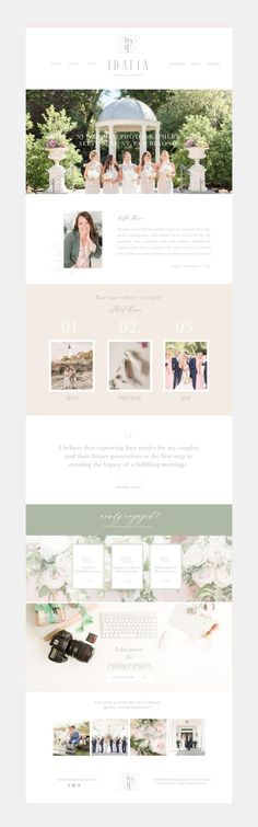 custom brand and showit website for wedding photographer Idalia photographer / branding for wedding businesses Website Design Layout, Website Design Inspiration, Website Designs, App Design, Photographer Branding, Graphic Design Branding, Social Media Design, Photography Website, Photography Business