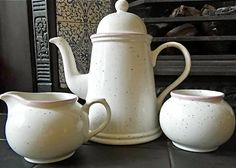 Speckled Arthur Wood vintage coffee pot by DaisiesandBluebells