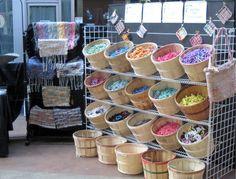 bucket display