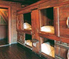 norway cupboard beds Hanseatic League Museum in Byergen, Norway