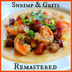 Try this tasty twist on Shrimp & Grits: Shrimp & Pancetta Over Soft Polenta, yum! // #Polenta #ShrimpAndGrits