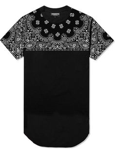 Black Yoke Paisley Long Tee | UNDERATED (£35.00) - Svpply