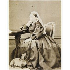 Queen Victoria and dachshund