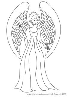 Free Printable Angel Coloring Pages For Kids | Angel, Free printable ...