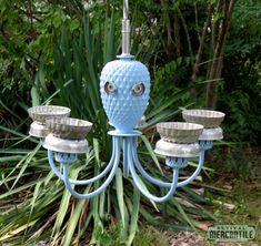 Upcycled Octopus Outdoor Garden Bird Feeder