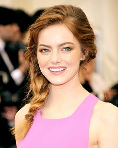 Emma Stone's Side Braid at the 2014 Met Gala
