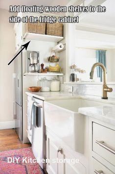 New Diy Kitchen Storage Ideas Diy Kitchen Storage, Home Decor Kitchen, Diy Storage, Storage Ideas, Kitchen Ideas, Kitchen Organization, Kitchen Inspiration, Kitchen Designs, Cool Kitchen Gadgets